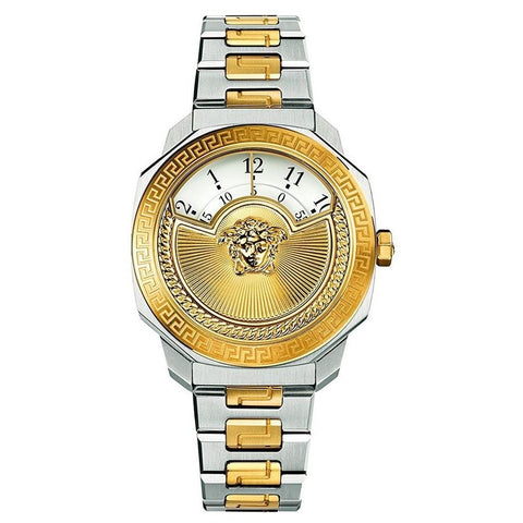 Two Tone Versace Dylos Icon w/ White Dial