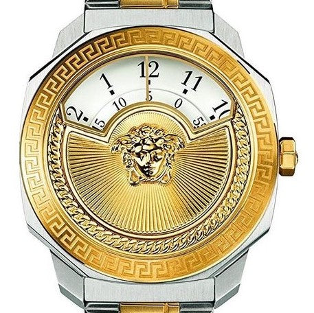 38mm two tone Versace Dylos Icon w/ White Dial