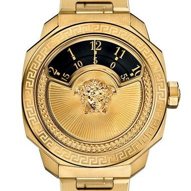 Yellow Gold Versace Dylos Icon w/Black Dial