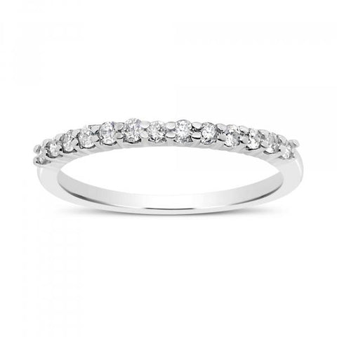 Diamond Band .25 CTW Round Cut 10K White Gold