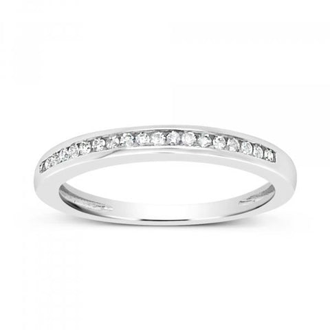 Diamond Band .11CT tw Round Cut 14K White Gold