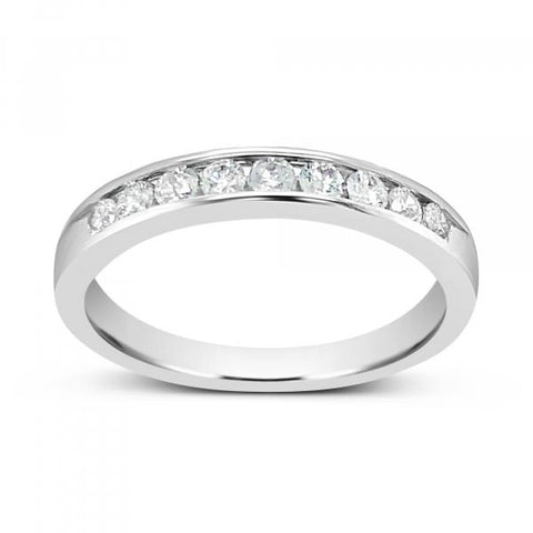 Diamond Band .36CT tw Round Cut 14K White Gold