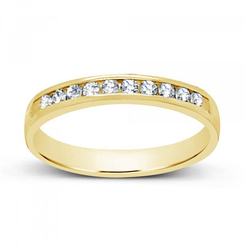 Diamond Band .20 CTW Round Cut 14K Yellow Gold