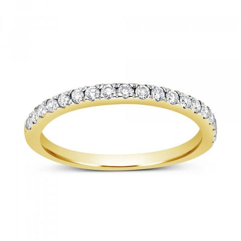 Diamond Band .25 CTW Round Cut 14K Yellow Gold