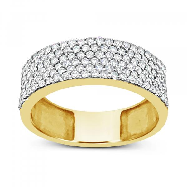 Diamond Band .90 CTW Round Cut 14K yellow Gold