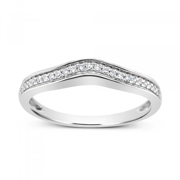 Diamond Band .10CT tw Round Cut 14K White Gold