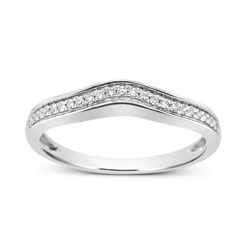 Diamond Band .10 CTW Round Cut 14K White Gold