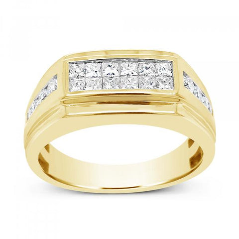 Diamond Band .50 CTW Princess Cut 10K Yellow Gold