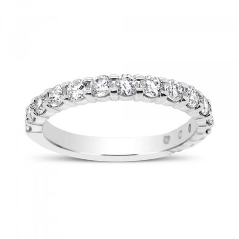 DIAMOND BAND 1 CTW ROUND CUT 14K WHITE GOLD