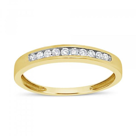 Diamond Band .26 CTW Round Cut 10K Yellow Gold
