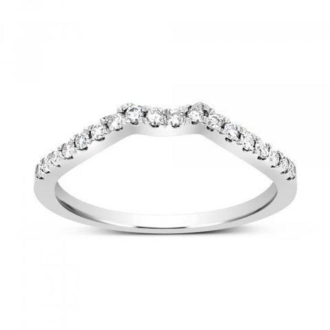 Diamond Band .20 CTW Round Cut 14K White Gold