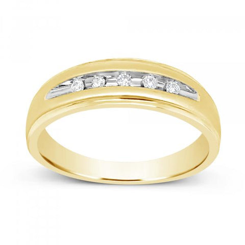 Diamond Ring .10CT tw Round Cut 10K Yellow Gold