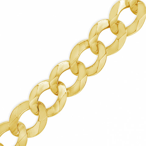 "10K Yellow Gold Solid  Cuban Link 22"" Chain"