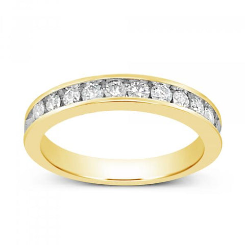 Diamond Band .55CT tw Round Cut 14K Yellow Gold