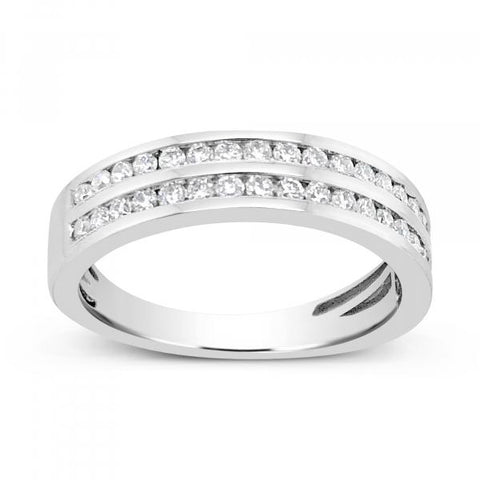 Diamond Band .50 CTW Round Cut 14K White Gold