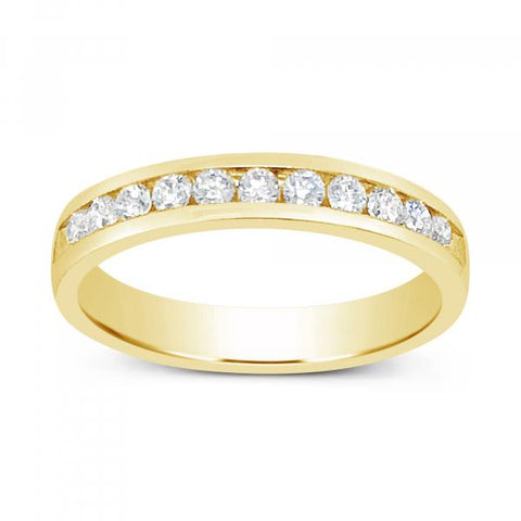 Diamond Band .37CT tw Round Cut 14 K Yellow Gold