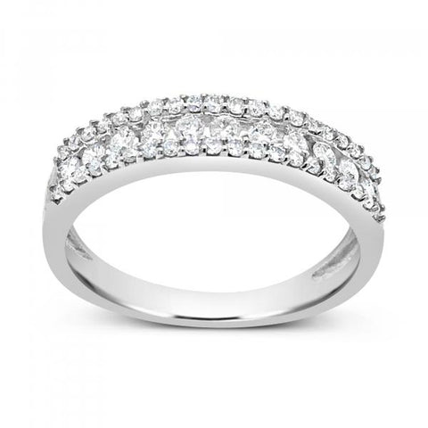 Diamond Band .48 CTW Round Cut 10K White Gold