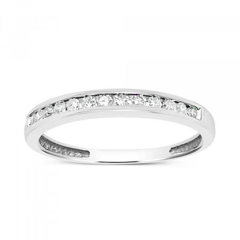 Diamond Band .16 CTW Round Cut 10K Yellow Gold