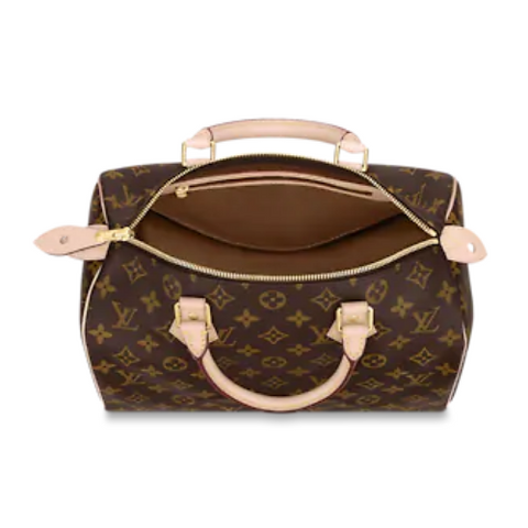 Interior of LV Speedy Handbag