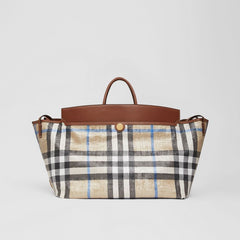 Woven Check and Leather Society Holdall