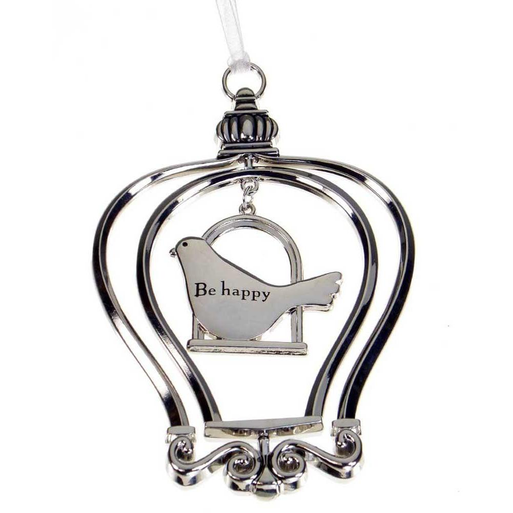 Birdcage Ornament-Car Charm - Be happy