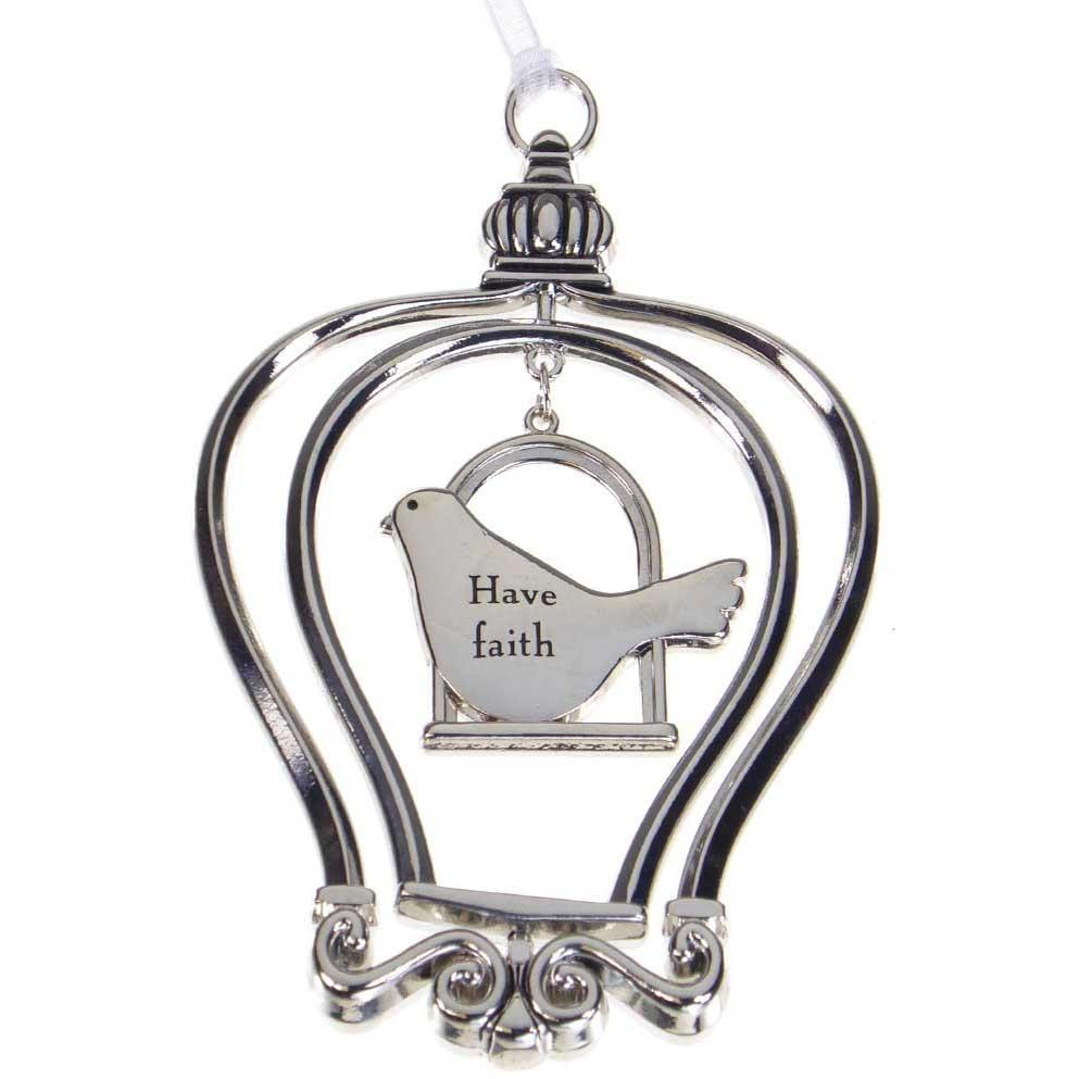 Birdcage Ornament-Car Charm - Have Faith