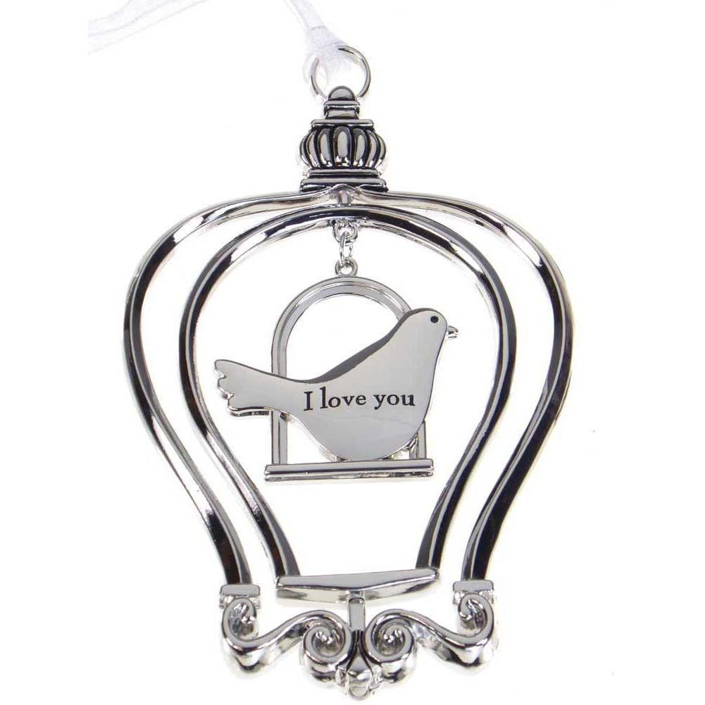 Birdcage Ornament-Car Charm - I love you Grandma