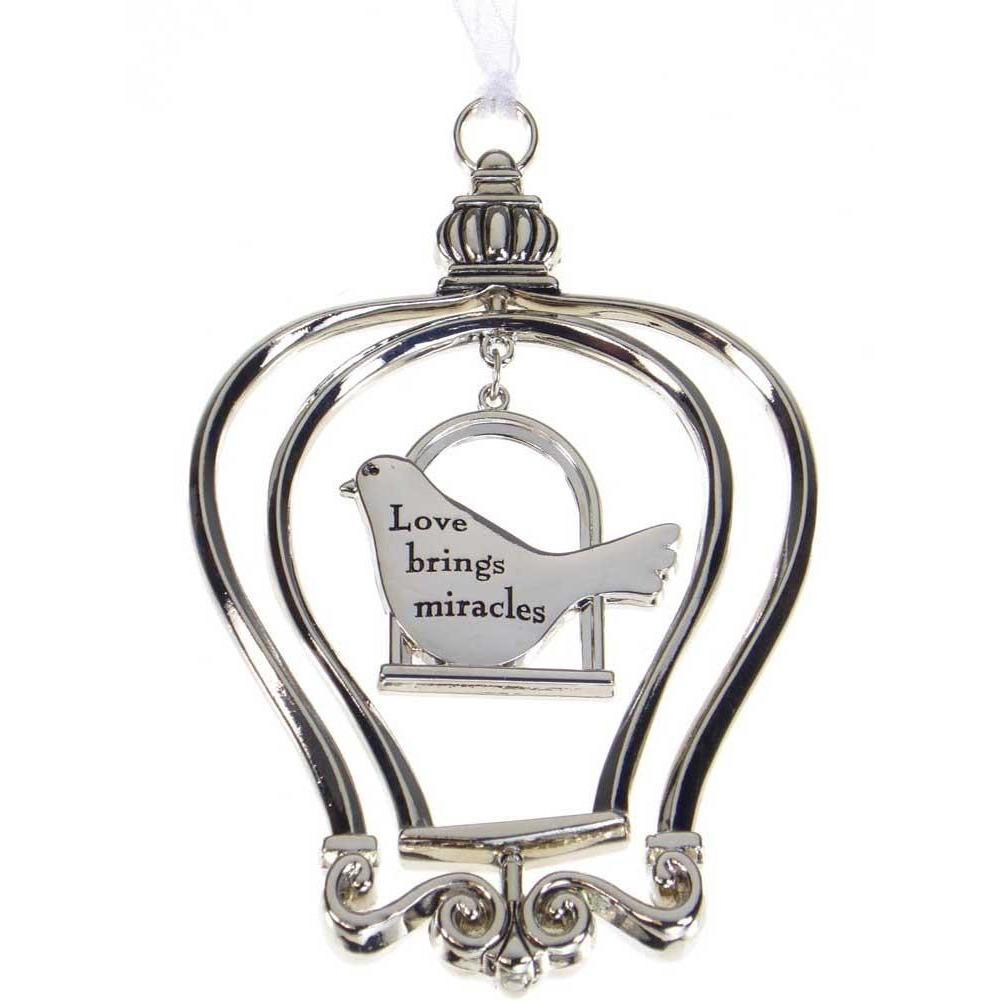 Birdcage Ornament-Car Charm - Love brings miracles