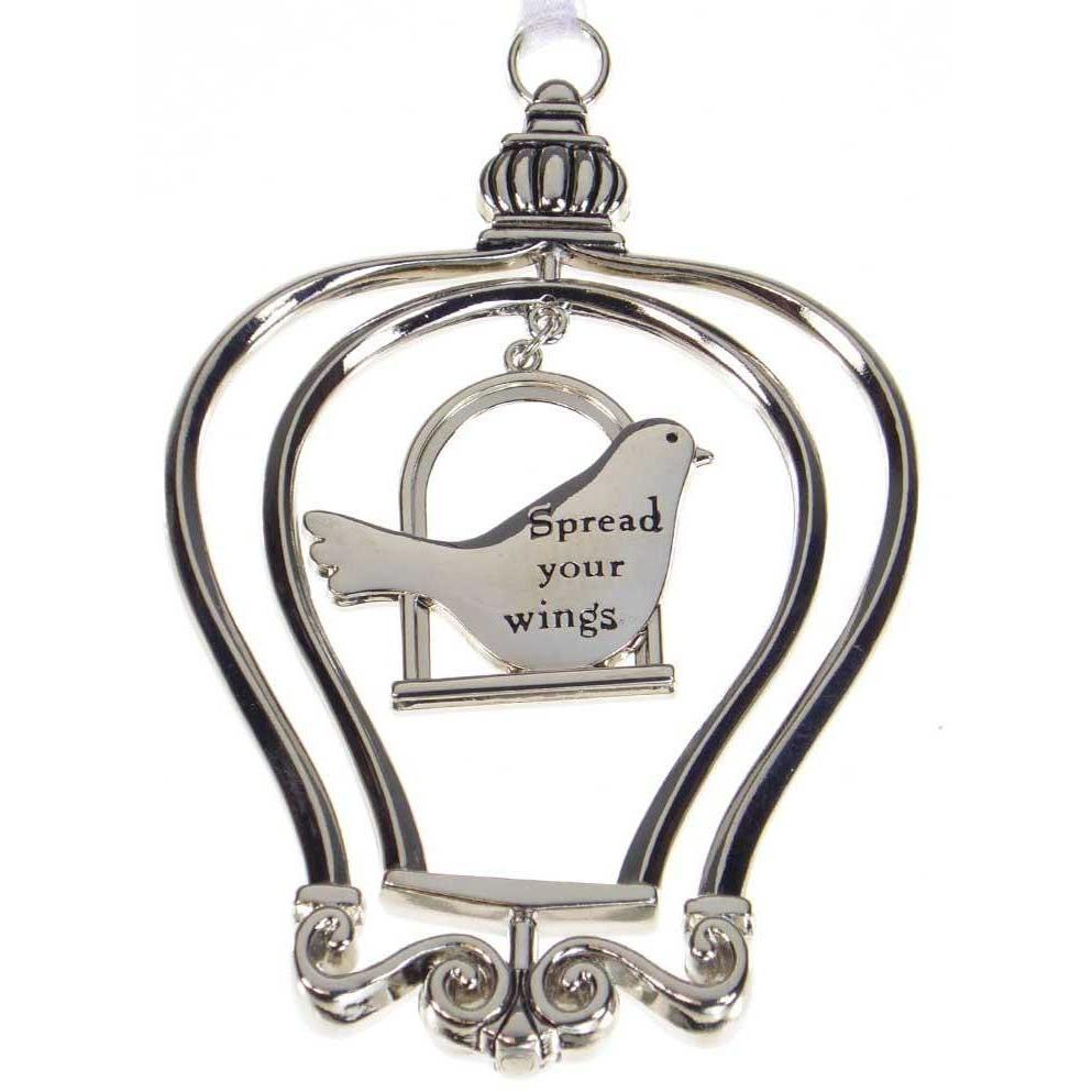 Birdcage Ornament-Car Charm - Spread your wings