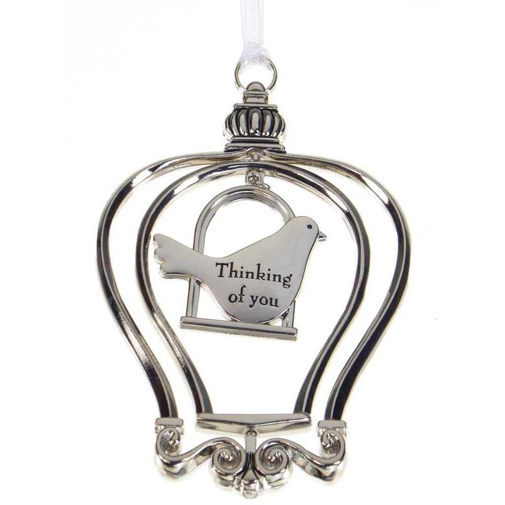 Birdcage Ornament-Car Charm - Thinking of you
