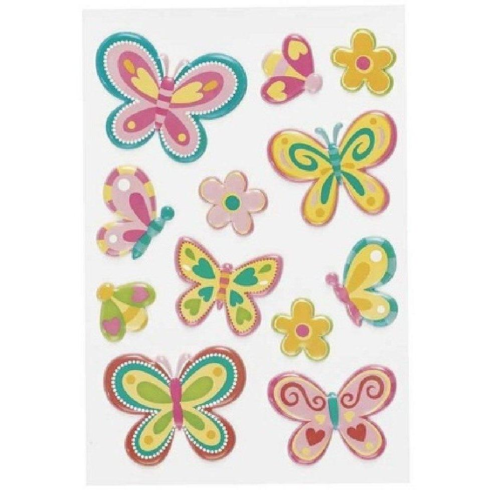 3-D Bright Stickers for tablets and laptops - Butterflies
