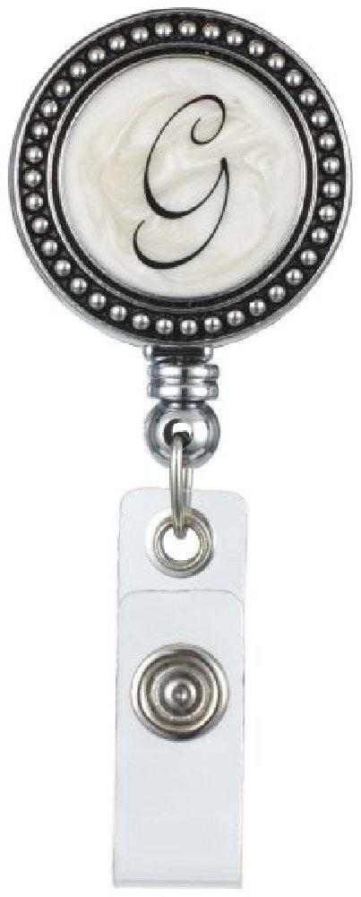 "Monogram ID Badge Reel - Initially Yours ""G"""