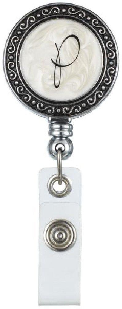 "Monogram ID Badge Reel - Initially Yours ""P"""