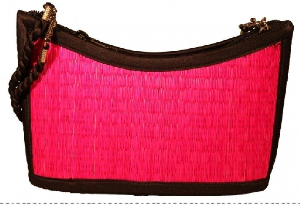 Kim Ang Sea Grass Purse - Fuchsia - Convertible Straps