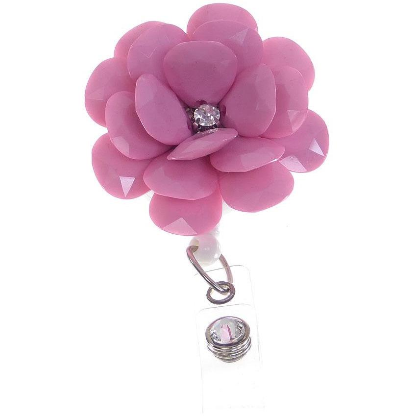 Badge Blooms ID Badge Reel - Camellia - Rose