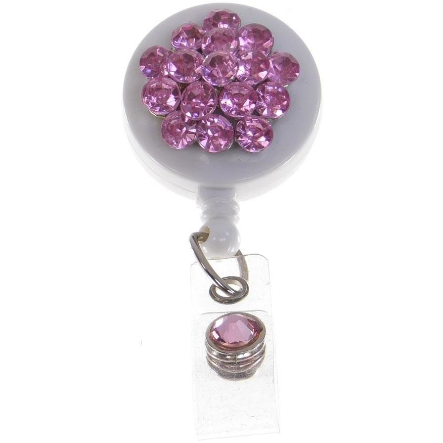 Badge Blooms ID Badge Reel - Bling - Rose Jewels