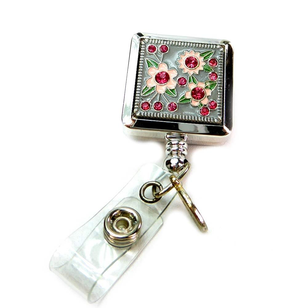 Blooming ID Badge Reel by BooJee - Roses