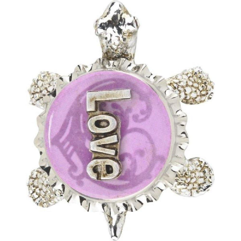 Bottlecap Turtle Figure - Love