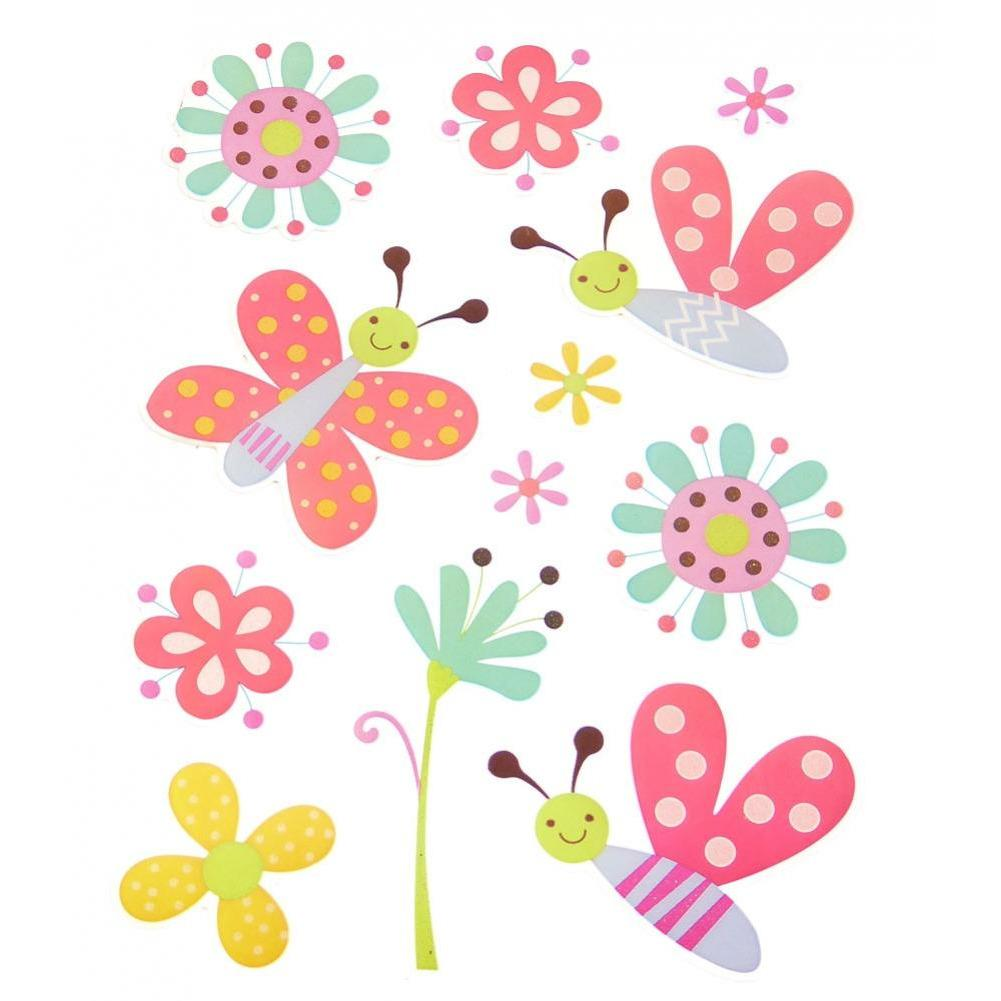 Colorful Glitter Stickers - Butterflies