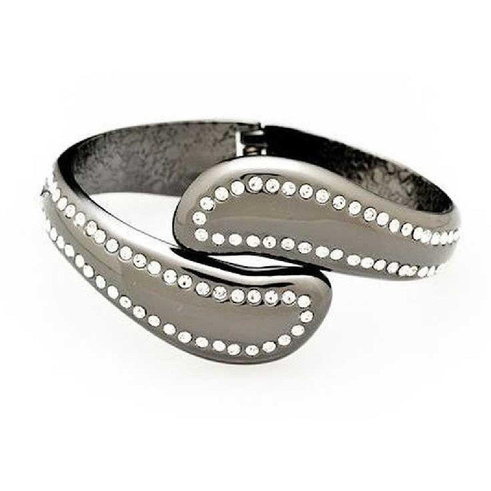 FUMI Bracelet Purse Hook - Crystal Classic - Pewter Divine