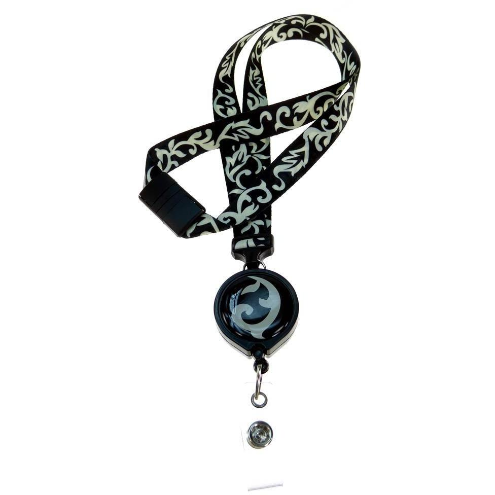 Lanyard Retractable Badge Reel - Ebony and Ivory