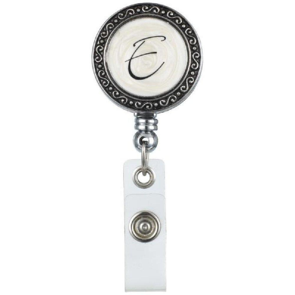 "Monogram ID Badge Reel - Initially Yours ""E"""