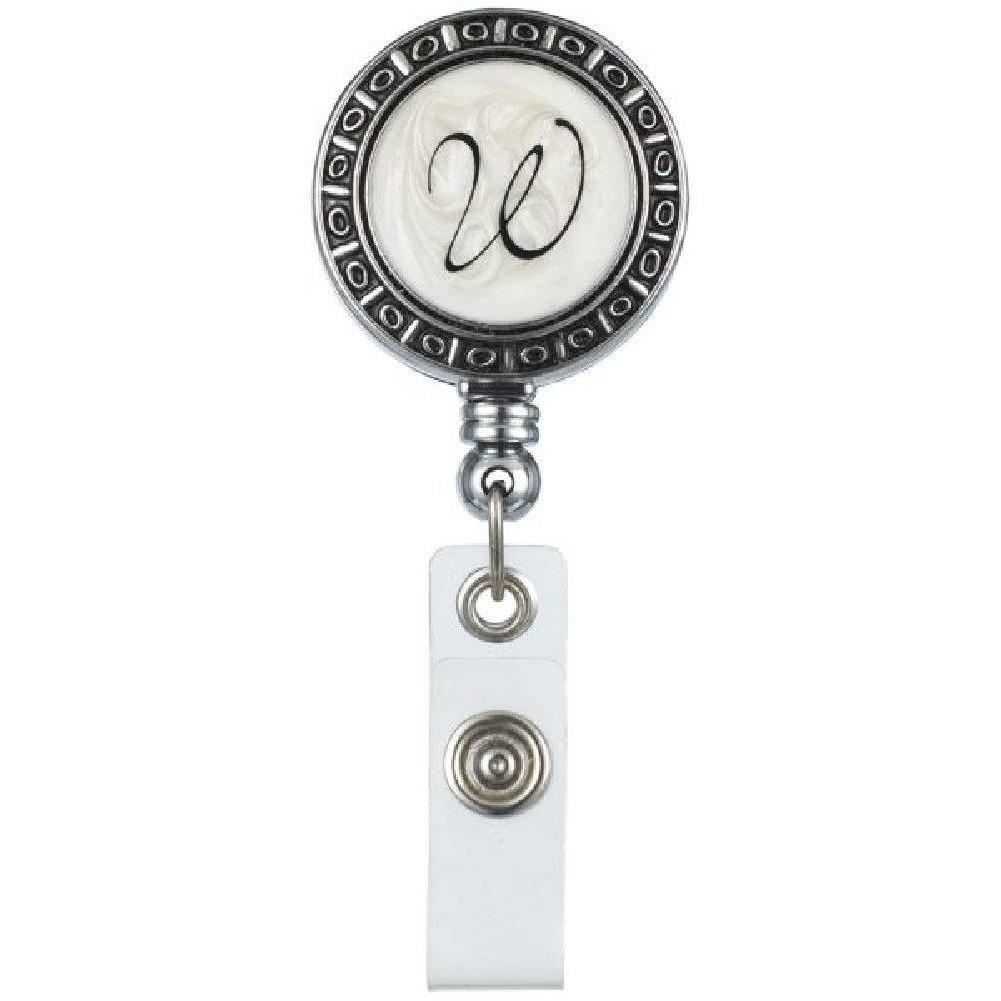 "Monogram ID Badge Reel - Initially Yours ""W"""