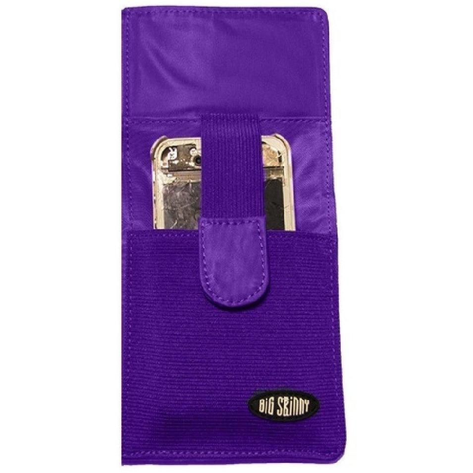Big Skinny Executive Phone Wallet - Purple Checkbook Bi-Fold Wallet