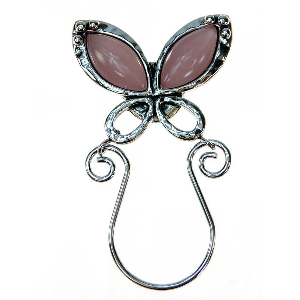 Thank You Mom Magnetic Eyeglass Holder Pin - Pink Butterfly
