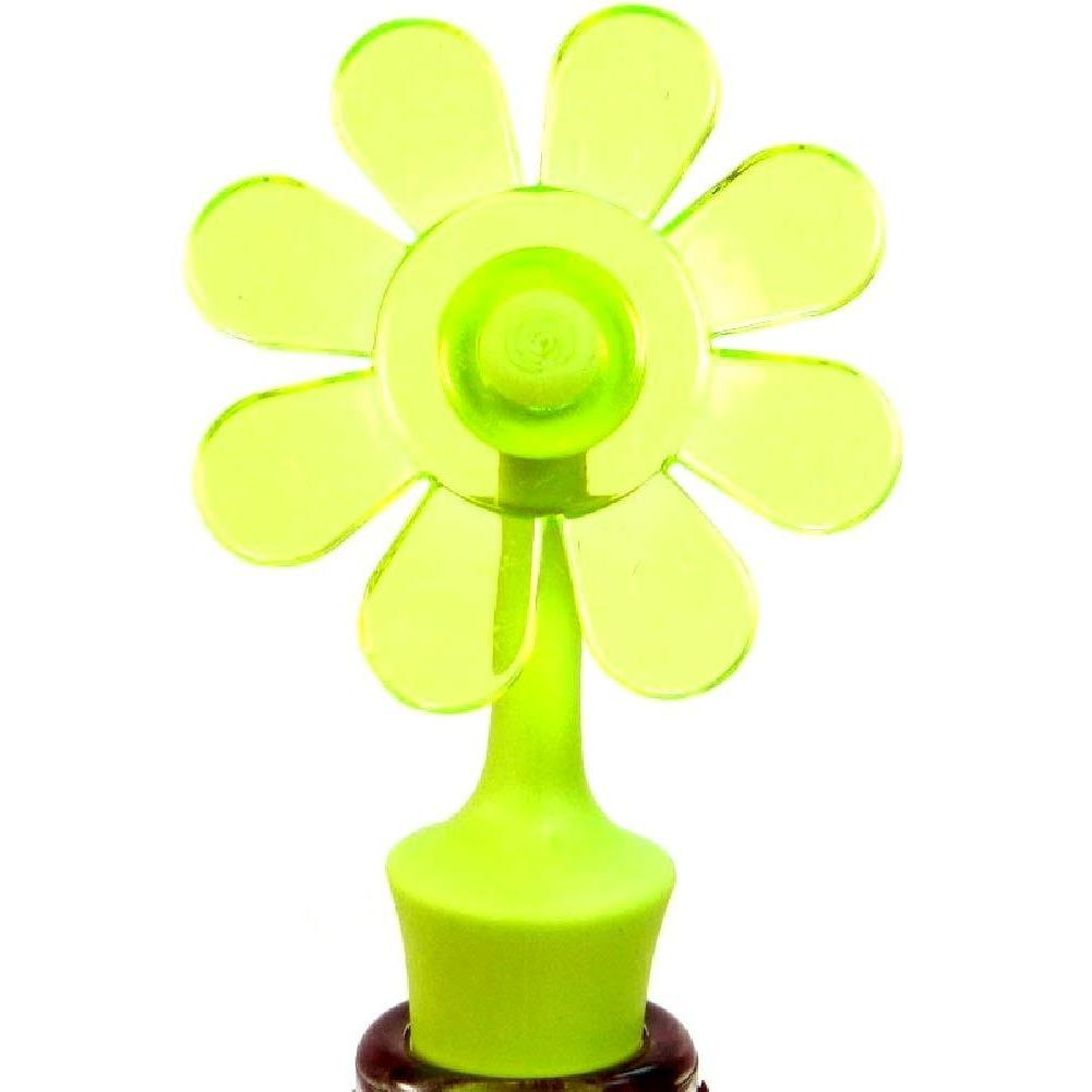 Wine Bottle Topper - Spring Fling - Green Flower