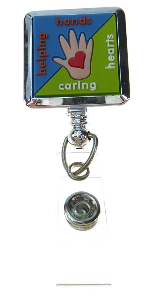 ID Badge Reel by BooJee - Helping Hands Caring Hearts