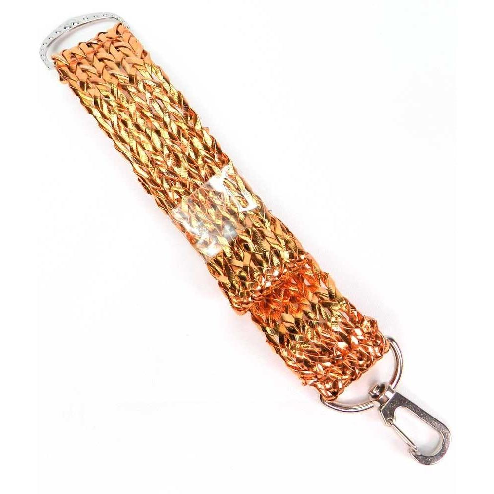 Hold Everything Key Wristlet Purse Holder - Metallic Woven Copper