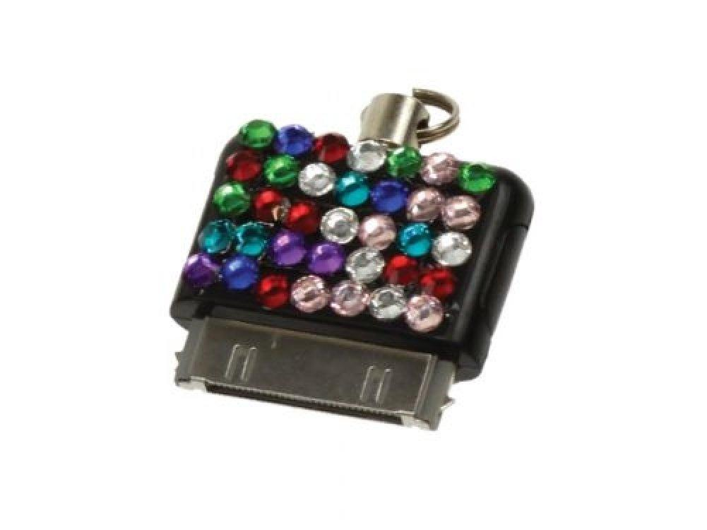 iPhone-ipod Connector - Multi-colored Bling