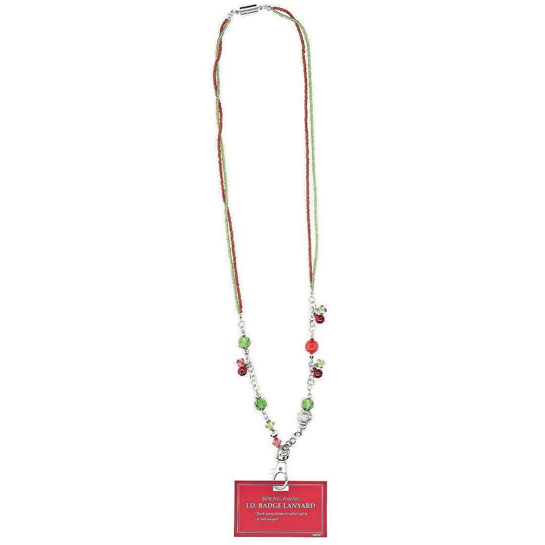 Jingle Bells Breakaway ID Badge Holder Necklace - Style 1